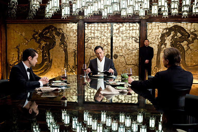 Inception dinner scene